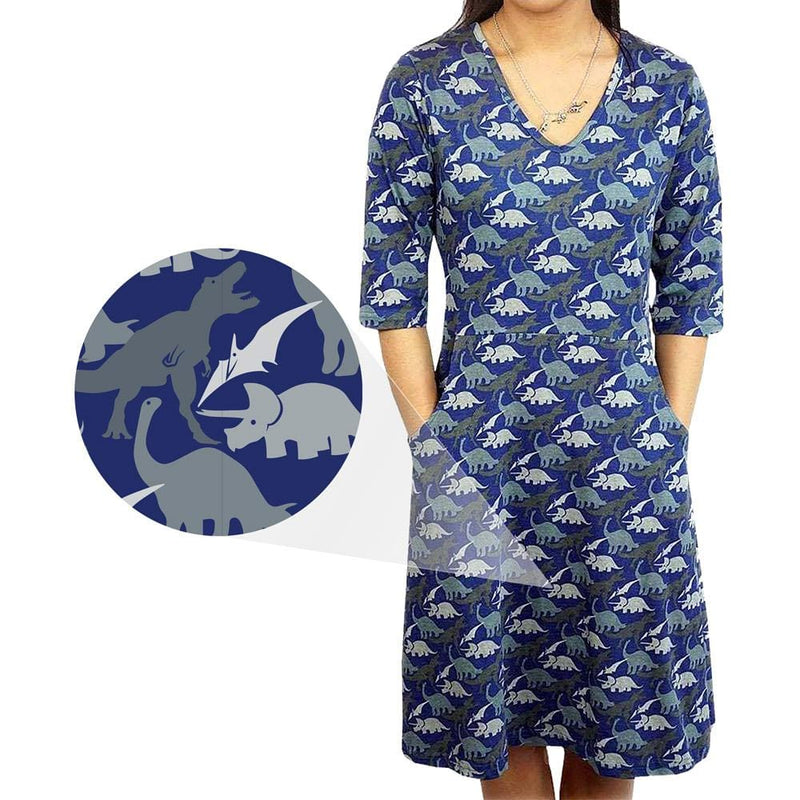 Prehistoric Print Rosalind Dress