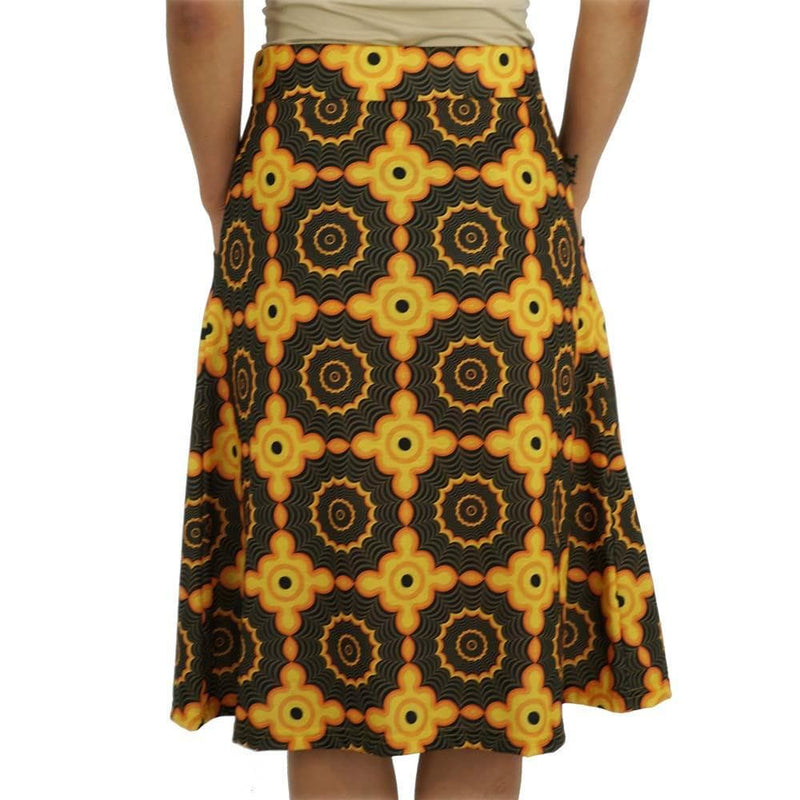 Retro Fractal Spiderweb A-Line Skirt [FINAL SALE]