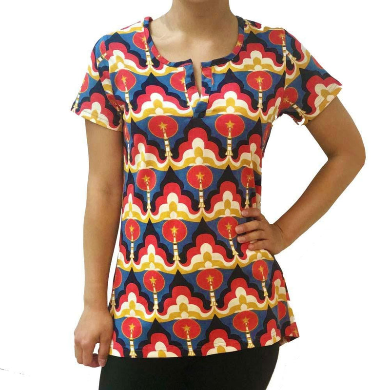 Retro Rocket Launch Blouse