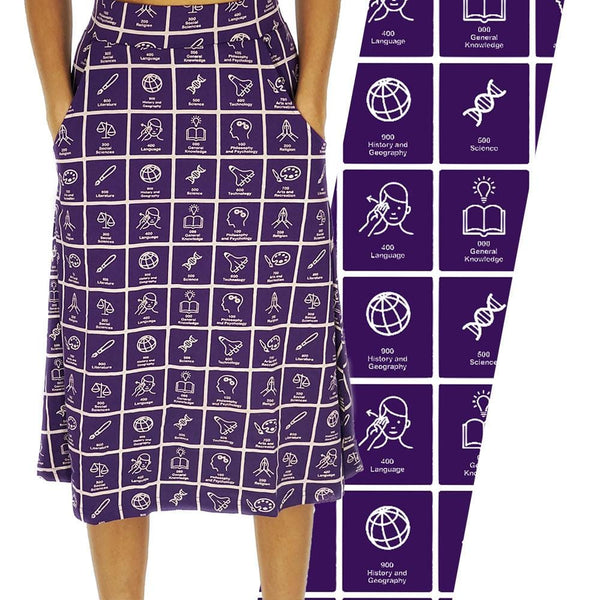 Dewey Decimal Classification® A-Line Skirt [FINAL SALE]