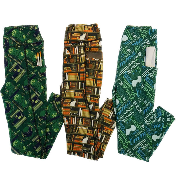 Cat-alog of Classics Adults Leggings with Pockets Bundle - 3-Pack ($105 Value)