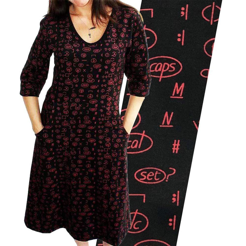 Proofreading Marks Fit & Flare Dress [FINAL SALE]