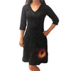 Black Hole Glow-in-the-Dark Fit & Flare Rosalind Dress - Svaha USA