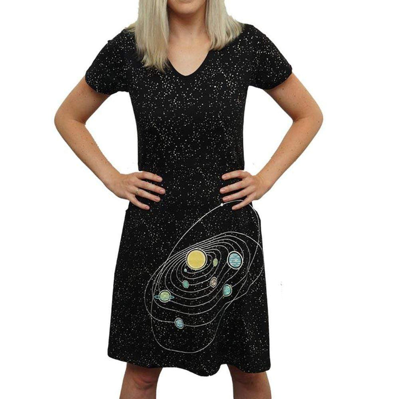 Retro Solar System Glow-in-the-Dark Rosalind Dress