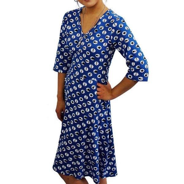 Simple Machines Polka Dots Fit & Flare Dress