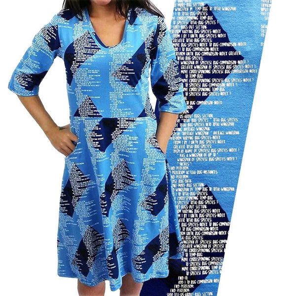 COBOL Programming Language Fit & Flare Dress [FINAL SALE]