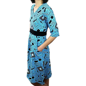 Electrical Engineering Dress, Circuit Board Dress, Technology Dress, STEM Dress, Electrical Components Dress, Mechanical Dress, IT Dress, Computer Mechanically Dress, STEM Dress, Technology Women's Dress with Pockets - SVAHA USA