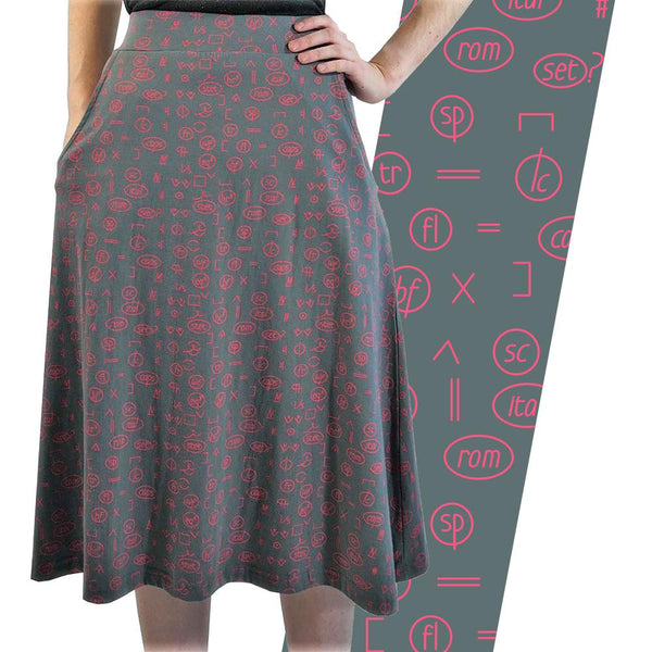 Proofreading Marks A-Line Skirt [FINAL SALE]