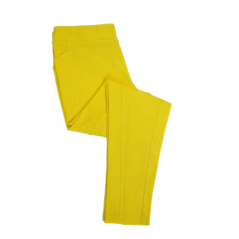 Yellow Kids Leggings With Pockets