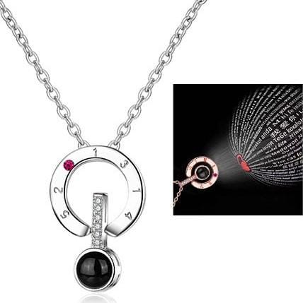 "Projective ""I Love You"" Stainless Steel Necklace"