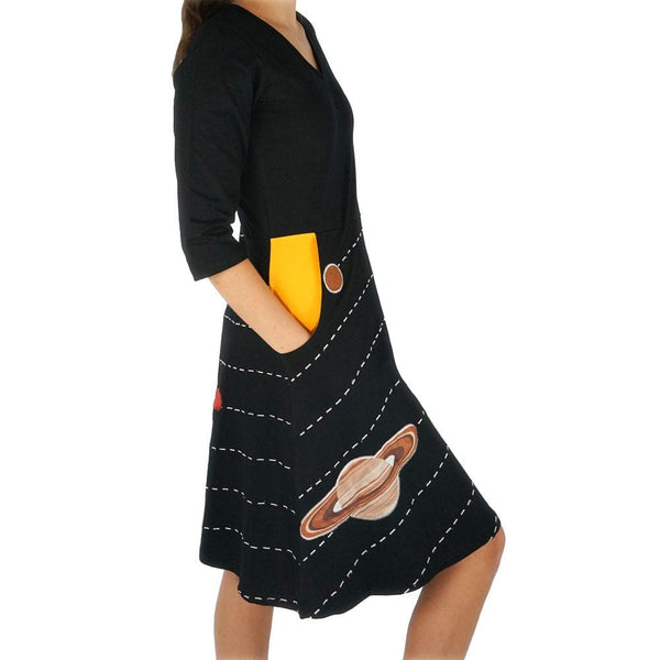A Pocket Full of Sunshine Appliqué Ada Dress (Pre-order)