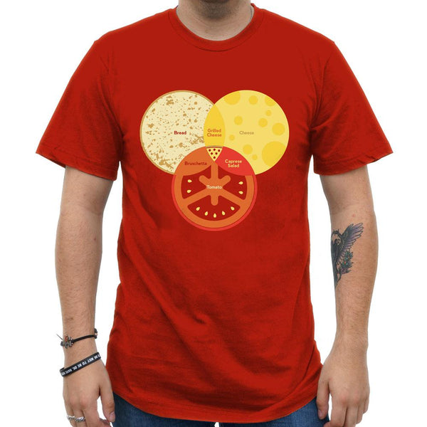 Pizza Venn Unisex Adults T-shirt [FINAL SALE]