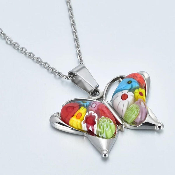 Murano Glass Butterfly Necklace [FINAL SALE]