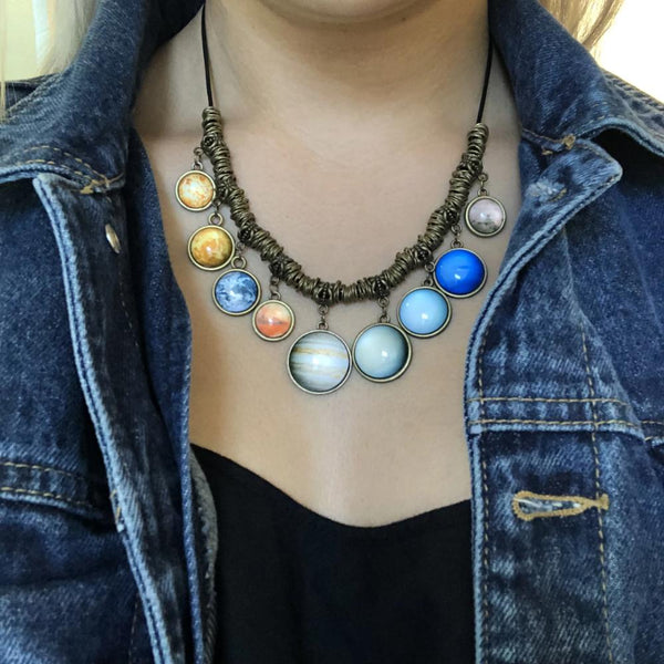 Solar System Statement Necklace