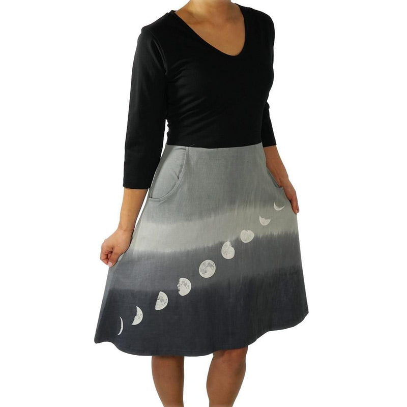 Moon Phases Glow-in-the-Dark Ombré Ada Dress