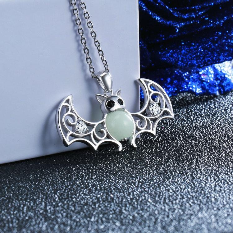 Flying Bat Glow-in-the-Dark Necklace