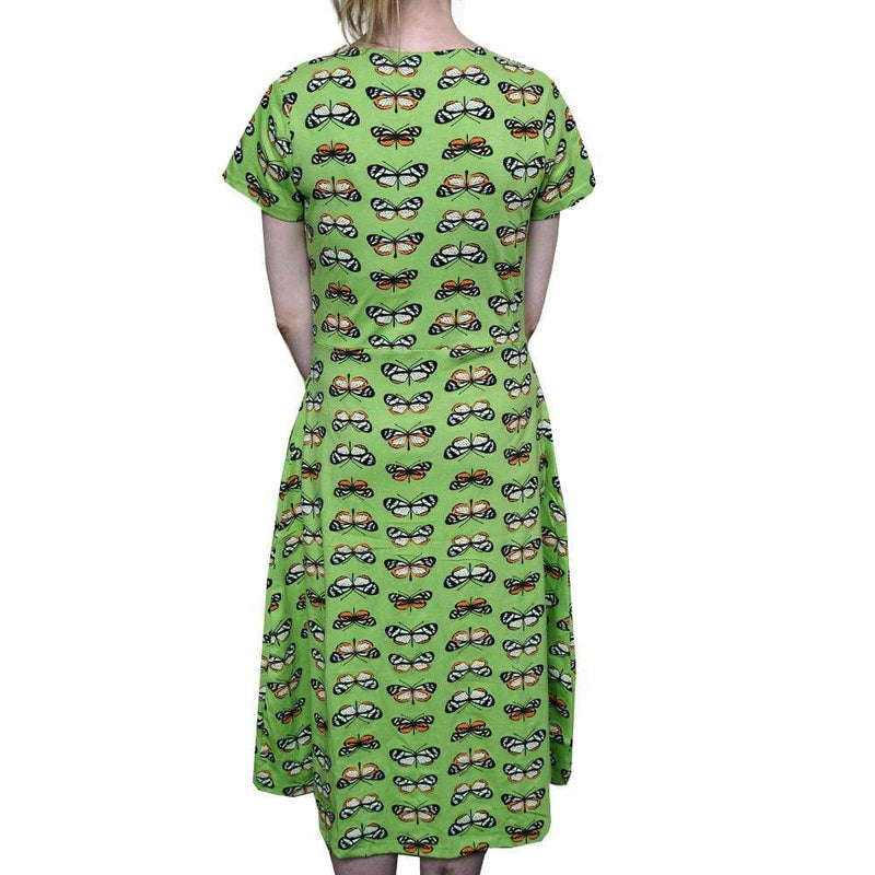 Butterfly Mimicry Dress, STEM Dress, Summer Dress, Evolutionary Dress, Science Dress, Biology Dress, Lepidopterology Dress, Lepidoptera Dress, Chemical Dress, Entomology Dress, Botany Dress, STEM Dress, Insect Women's Dress with Pockets - BACK Svaha USA