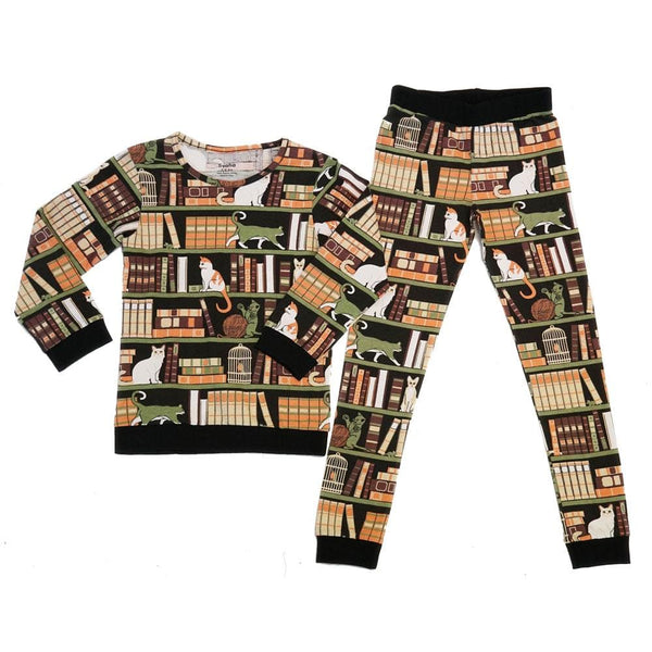 Cat-a-Log of Feline Fiction Kids Pajamas Set