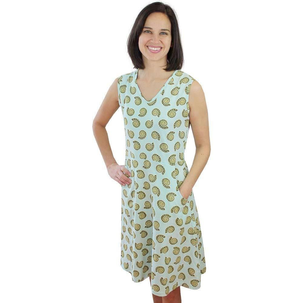 69bb2c427c5 ... Chambered Nautilus Sleeveless Fit   Flare Eileen Dress - Svaha USA STEAM -themed products for ...