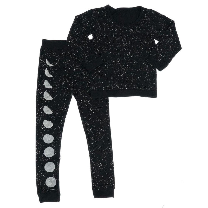 Moon Phases Glow-in-the-Dark Kids Pajamas Set