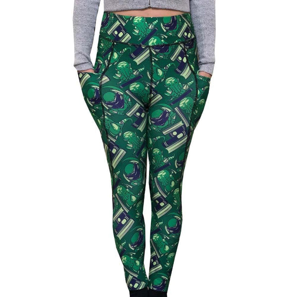 Cthulhu leggings with pockets. Mythos Leggings with Pockets, Geeky Leggings with Pockets, Printed Leggings with Pockets, Womens leggings with Pockets, Lovecraft Leggings with Pockets, Polyester leggings with pockets, Womens Leggings with Pockets, Womens Clothing, Mythology leggings with Pockets, Reading leggings with Pockets, Literature Leggings with Pockets, Book leggings with Pockets, Cosplay leggings with Pockets, Geek Leggings with Pockets, Womens Leggings with Pockets - SVAHA USA