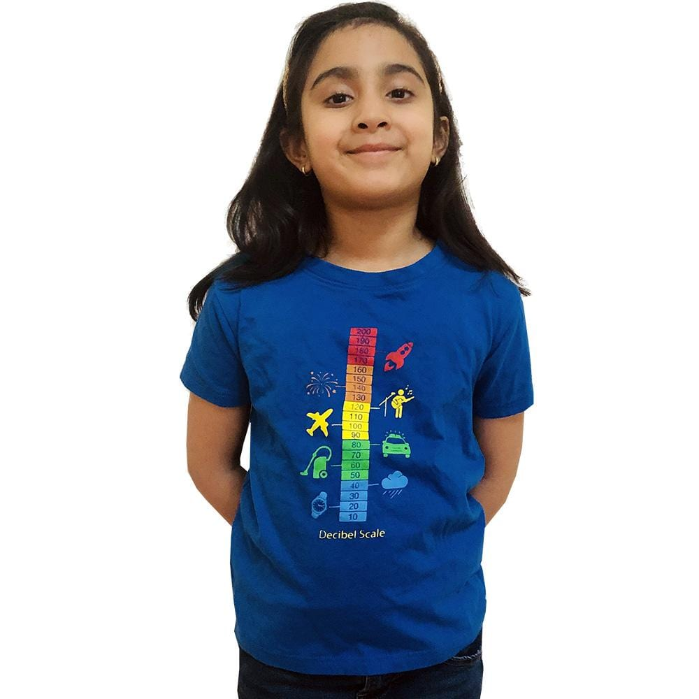 1f629135223caf Decibel Scale Kids T-Shirt - Svaha USA STEAM-themed products for Science