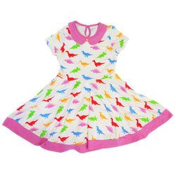 Dino Love Kids Twirl Dress