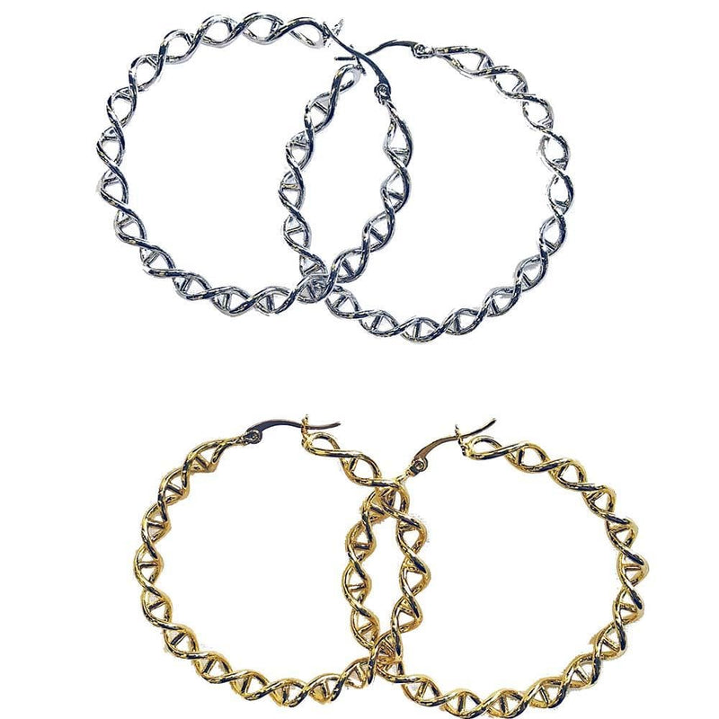 DNA Circle Hoop Earrings - Svaha USA