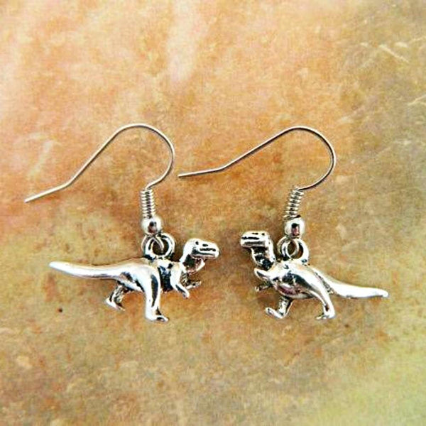Velociraptor Silver Earrings - Svaha Apparel