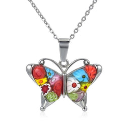 Murano Glass Butterfly Necklace