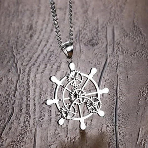 Geared Wheel Necklace - Svaha USA