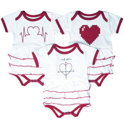 Geekling Love Ruffled Baby Bodysuit Bundle - Organic Cotton 3-Pack - Svaha USA