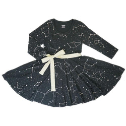 Constellations Glow-in-the-Dark Kids Twirl Dress
