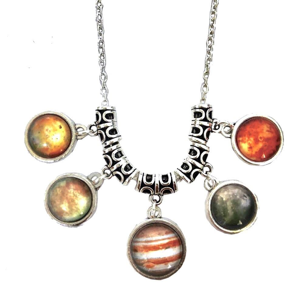 Moons Necklace, Solar System Necklace, Space Necklace, Galaxy Necklace, Outerspce Necklace, Astronomy Necklace, Planet Necklace, Science Necklace, Space Necklace, Jupiter Necklace, STEM Necklace - SVAHA USA