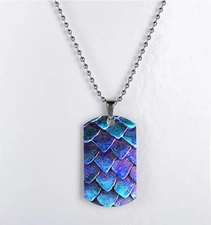 Dragon Scales Dog Tag Necklace