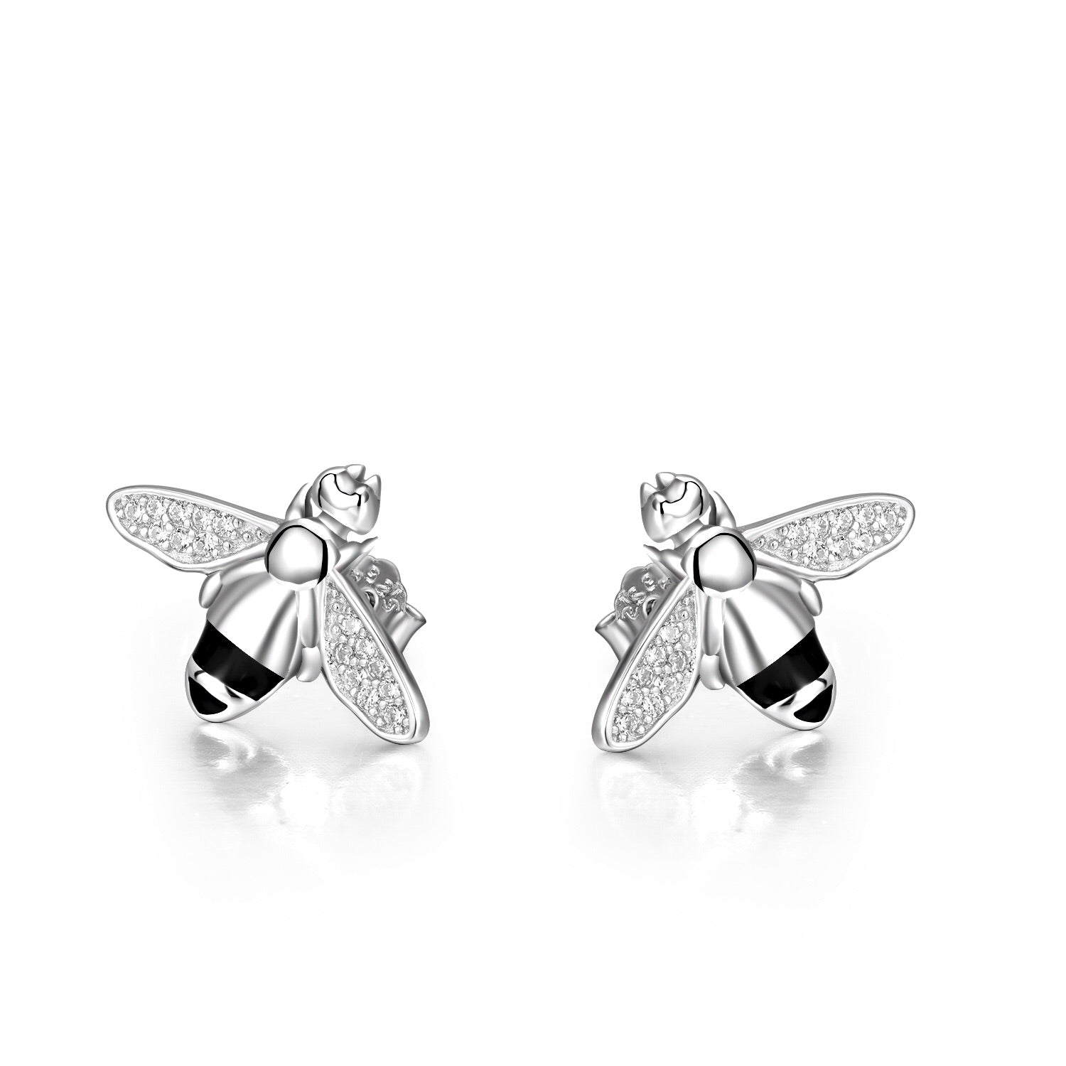 earrings round stud zirconia cubic large silver white with sterling nuru