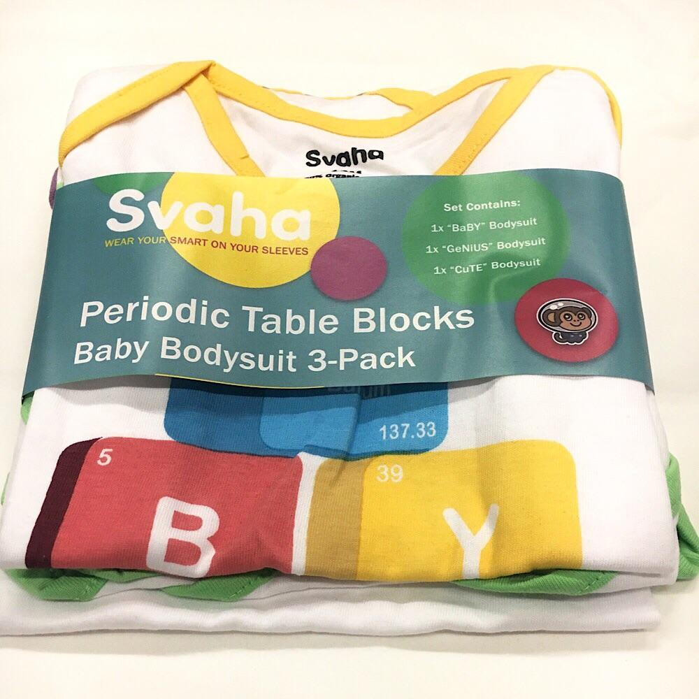 Periodic table blocks baby bodysuit bundle organic cotton 3 pack periodic table blocks baby bodysuit bundle organic cotton 3 pack svaha apparel urtaz Image collections