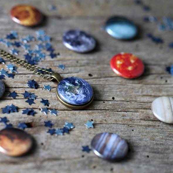 Interchangeable Solar System Necklace