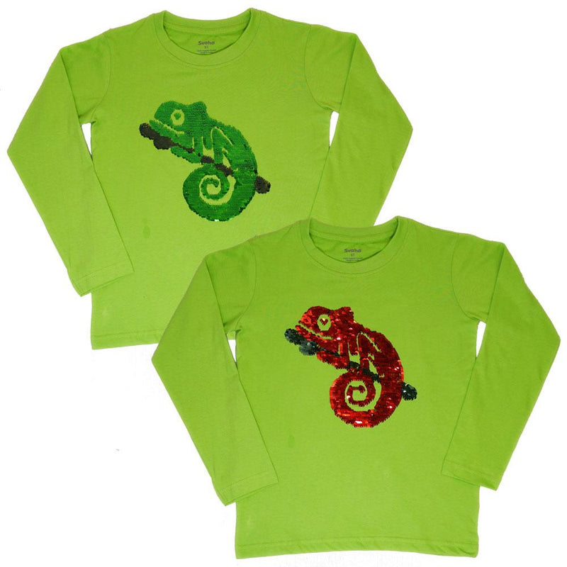 Chameleon Reversible Sequin Kids T-Shirt