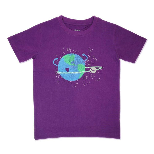 Hula Hoopin' Orbit Glow-in-the-Dark Kids T-Shirt