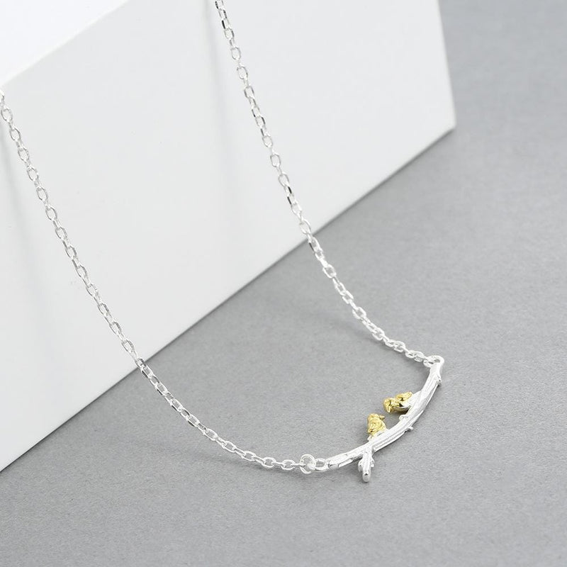 Dainty Silver Lovebirds Necklace [FINAL SALE]