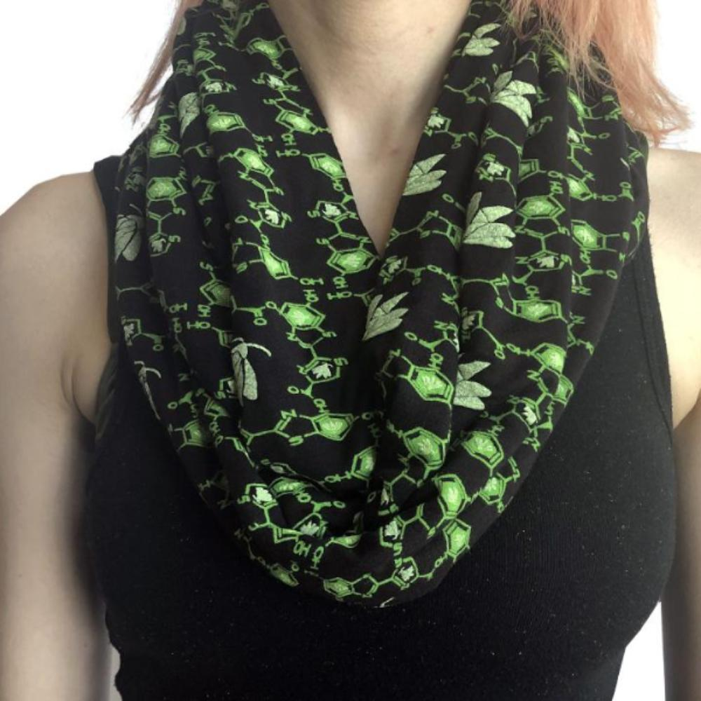 Firefly Luciferin Molecule Glow-in-the-Dark Infinity Scarf - Svaha USA