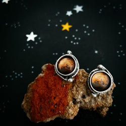 Mars and Moons Earrings