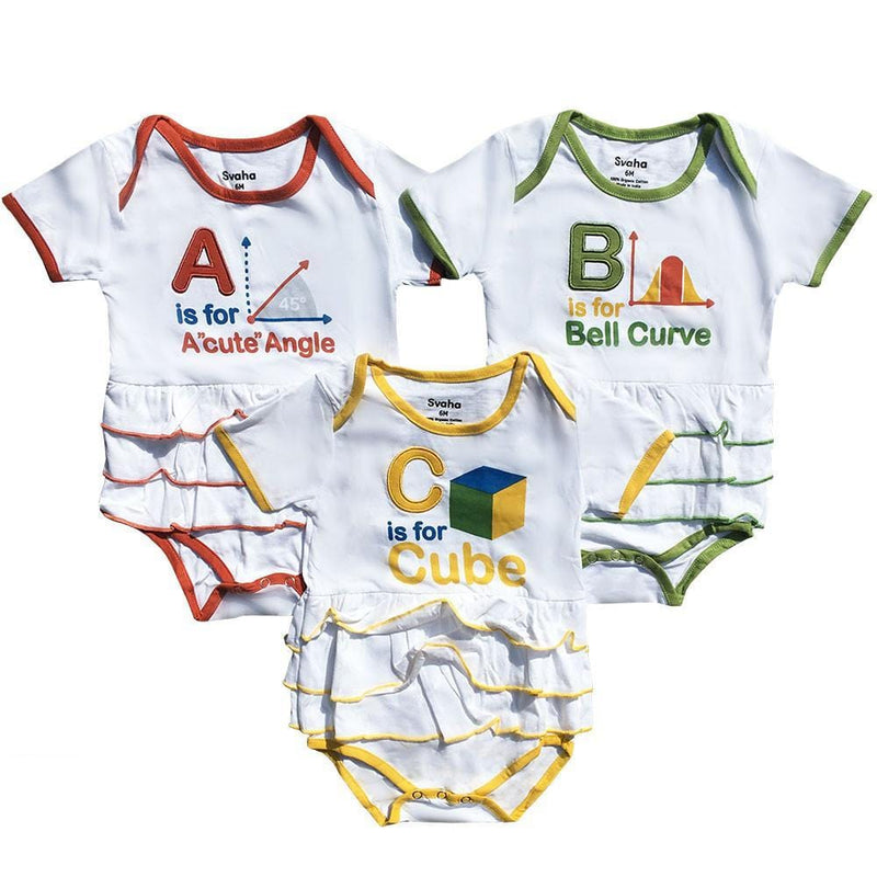 Geek Baby Clothing, Girl Baby Clothing, STEM Baby, Math Baby Onsies - SVAHA USA