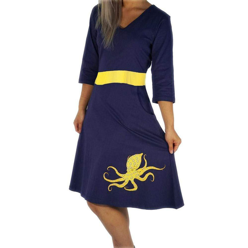 Blue-Ringed Octopus Glow-in-the-Dark Ruby Dress