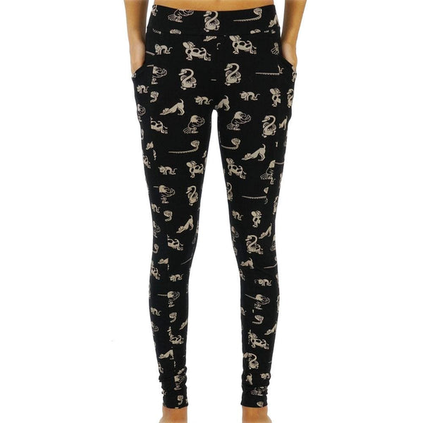 Paw-Some Yoga Pals Adults Leggings with Pockets