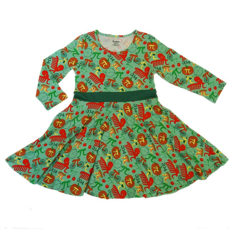 Pi Puns Kids Twirl Dress