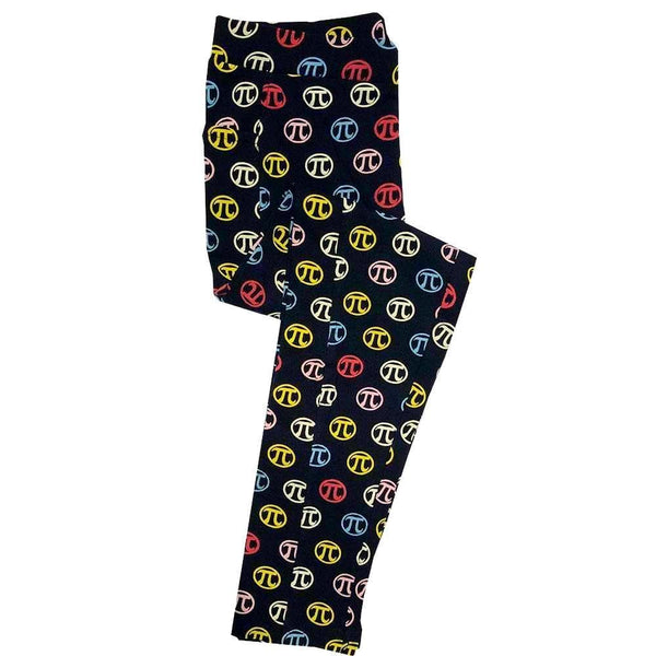 Rainbow Pi Symbols Kids Leggings with Pockets [FINAL SALE]
