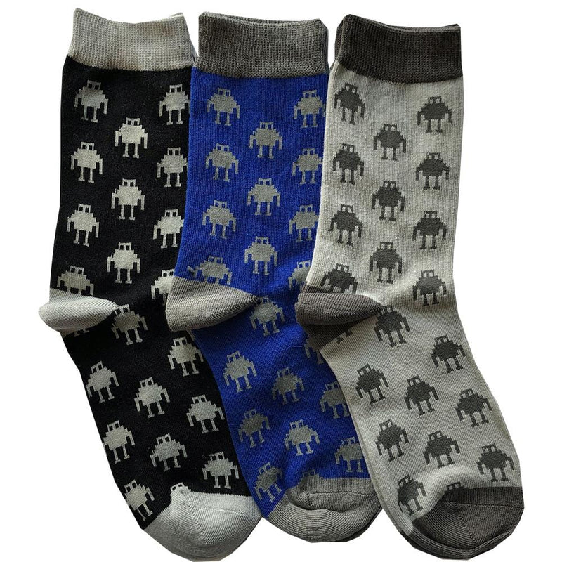 Robot Friends Socks Bundle - 3-Pack