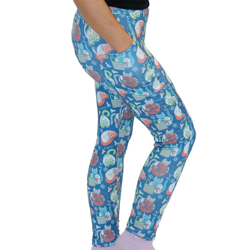Science Cats Adults Leggings with Pockets